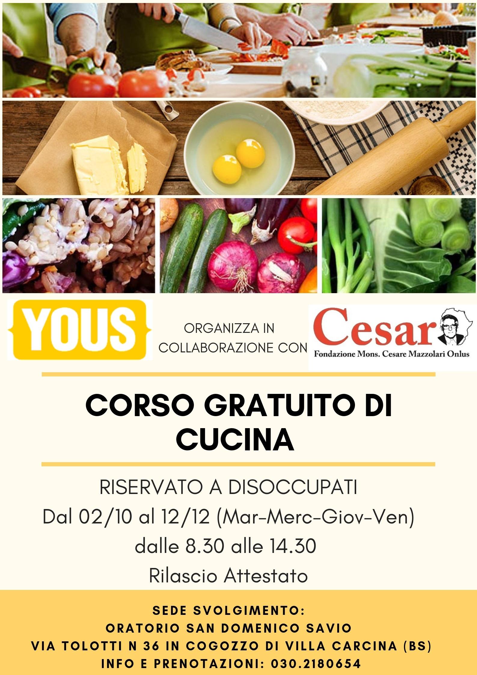 Corso Di Cucina Fondazione Cesar Onlus